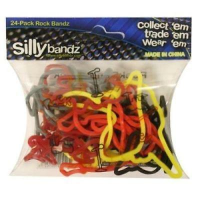 Official Sillybandz Rubber Silly Bandz Rock Band x 24 - New