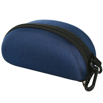 Protective Moulded Sunglasses Case Dark Blue Zipped - By TRIXES