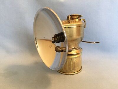 JUSTRITE Miners Carbide Cap Lamp w/ 4 inch Reflector, vintage mining, caving