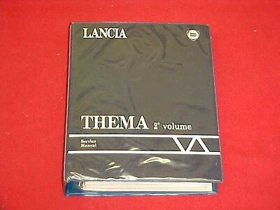 1988 1989 Lancia Thema Service Shop Repair Manual 88 89 + Wiring Diagrams Oem