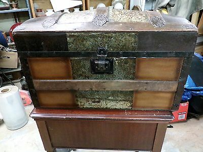 Antique 1800's Steamer or Stage Coach Ladies Travel Trunk