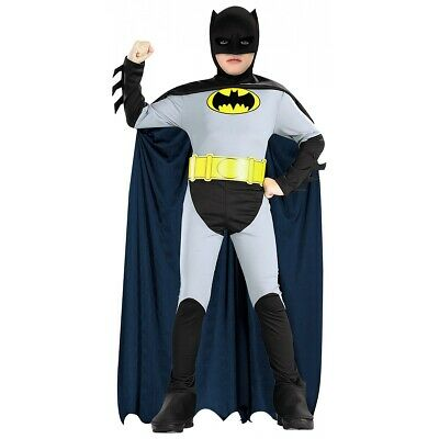 Batman Costume for Kids Superhero Halloween Fancy Dress