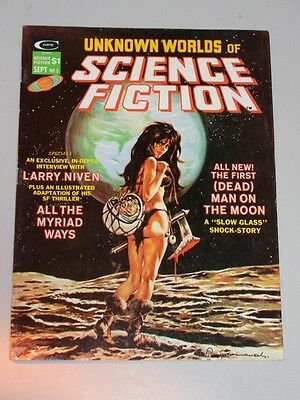 Unknown Worlds Of Science Fiction #5 September 1975 Curtis Us Magazine<