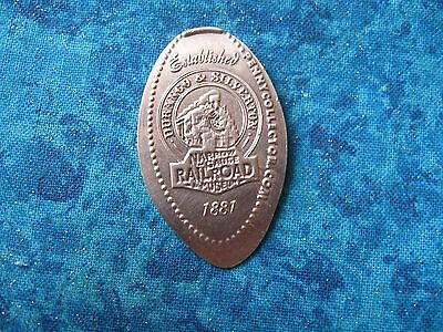 DURANGO & SILVERTON RAILROAD 1881 COPPER Elongated Penny Pressed Smashed 24
