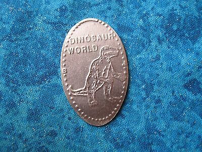 DINOSAUR WORLD COPPER Elongated Penny Pressed Smashed 24