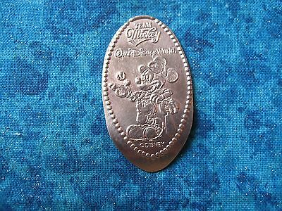 TEAM MICKEY WALT DISNEY WORLD BASEBALL COPPER Elongated Penny Pressed Smashed 24