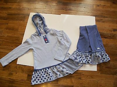 Boutique Lot Naartjie Girls Top Shirt Tunic Pants Leggings 6 Floral Blue