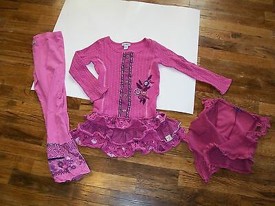 Boutique Lot Naartjie Girls Dress Tunic Pants Leggings Vest 6 Floral Pink
