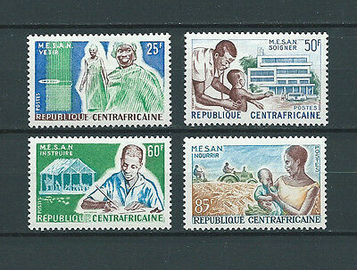 REP. CENTRAFRICAINE - 1965 YT 51 à 54 - TIMBRES NEUFS* charnière