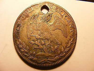Mexico 8 Reales, 1836-Go PJ, VF+ Details but IT IS HOLDED
