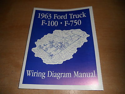 1963 ford f100 f250 f350 f-100 wiring diagrams manual