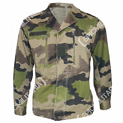 ORIGINAL French Army CCE CAMO SUMMER COMBAT JACKET - All Sizes - Genuine Surplus