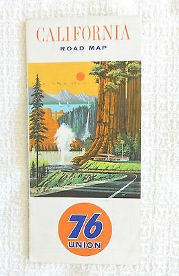 1964  Union 76 California Gas Station Road Map