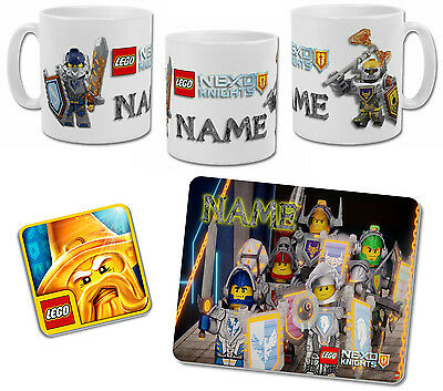 Personalised Lego Nexo Knights Mug with Coaster & Placemat Options