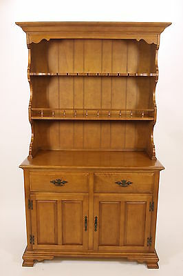 Keller Hard Rock Maple Sideboard Buffet Hutch China Cabinet Vintage Furniture