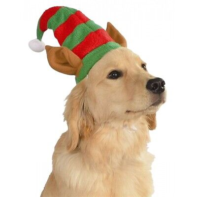 Elf Hat with Ears Costume Accessory Pet Christmas