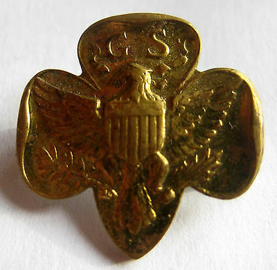 RARE Girl Scout 1923-1934 SEVEN (7) STAR MEMBERSHIP PIN, Type 3 Traditional HTF