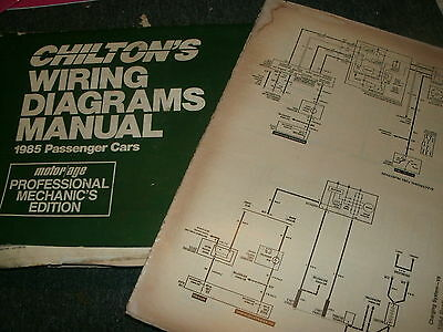 1985 Buick Electra Park Avenue Wiring Diagrams Schematics Manual Sheets Set
