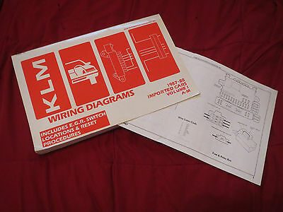 1987 1988 volvo dl gl wiring diagrams manual sheets set