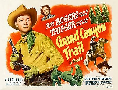ROY ROGERS & TRIGGER * JANE FRAZEE * GRAND CANYON TRAIL * 11x14 print * 1948