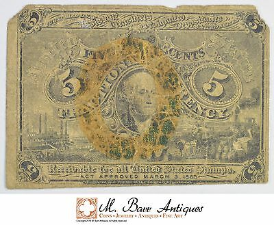 1863 5 Cents 2nd Issue Fractional Currency *331