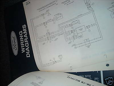 1994 ford thunderbird factory wiring electrical diagrams schematics sheets  set