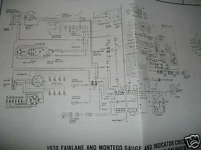 1970 Ford Torino Montego Wiring Diagrams Manual Sheets