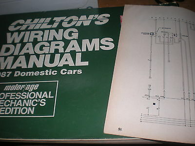 1987 Buick Park Avenue Electra Wiring Diagrams Schematics Sheets Set