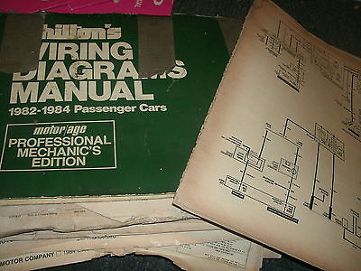 1984 ford mustang mercury capri wiring diagrams schematics sheets set
