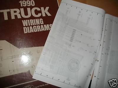1990 ford f600 f-600 cowl wiring electrical diagrams schematics sheets set  oem