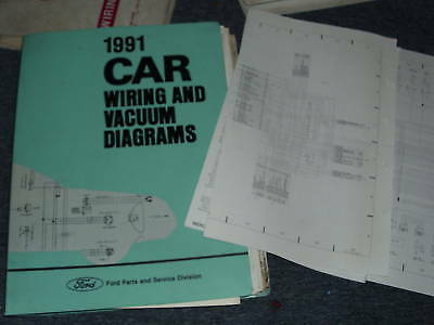 1991 Ford Mustang Electrical Wiring Vacuum Diagram Manual Gt Lx