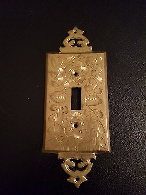 vintage Brass Light Switch Cover plate