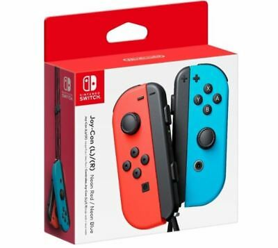 Genuine Nintendo Switch - Joy-Con (R) (L) Wireless Controller Neon Red/Blue