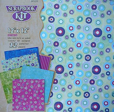 "Scrapbook Kit 12""X12"" - 12 Patterned Papers 6 Designs"