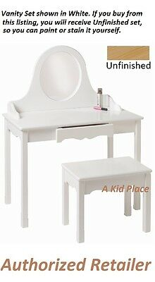 LITTLE COLORADO VANITY TABLE & BENCH SET KIDS Wooden MADE in USA ...
