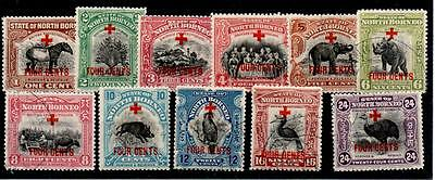 NORTH BORNEO SG235/45 1918 SURCHARGE SET TO 24c USED