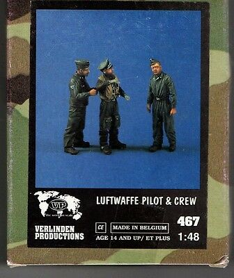 Verlinden 467 - Luftwaffe Pilot & Crew - 1/48 Resin Kit