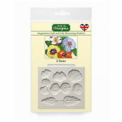 Katy Sue Fondant Cake Icing Craft Embellishment Mould - Floral Pansies