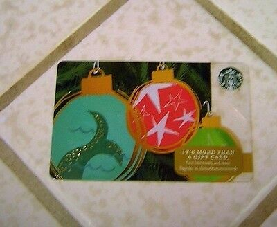 Starbucks Gift Card ~ Christmas Ornament ~ Mermaid Tail ~ Limited Edition 2016