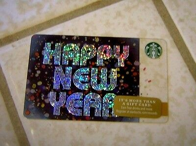 Starbucks Gift Card ~ Happy New Year ~ Limited Edition 2016