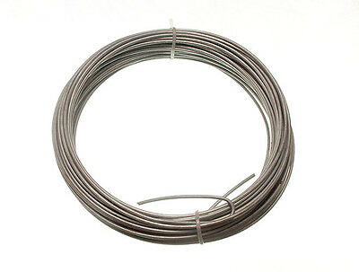 20M roll of Galvanised Garden Fence Wire 2 Mm (10x) each roll weighs 500g