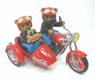 Hamilton Collection On The Go With Coca Cola Bears Riding Motorcycle/Sidecar