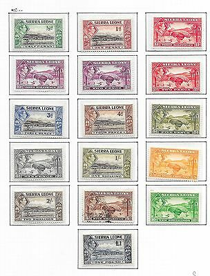 Sierra Leone stamps 1938 SG 188-200  MLH/CANC  VF