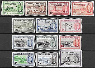 Turks&Caicos Islands stamps 1950 SG 221-233  MLH  VF