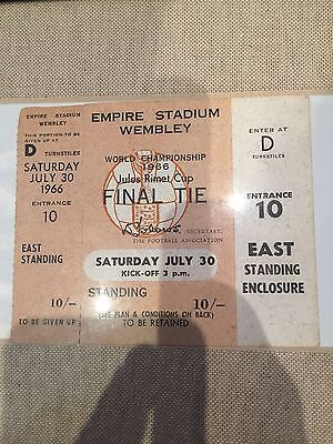 1966 WORLD CUP FINAL ENGLAND v WEST GERMANY TICKET - NEVER USED TICKET! RARE!!!!