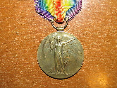 WW1 British Victory Medal named West Yorkshire Regiment