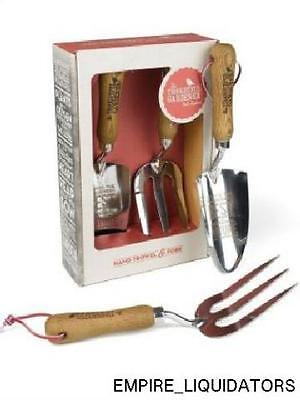 NEW - Thoughtful Gardner Hand Trowel and Fork Gift Set -A