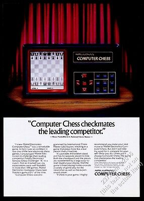 1981 Mattel Electronics Computer Chess game color photo vintage print ad