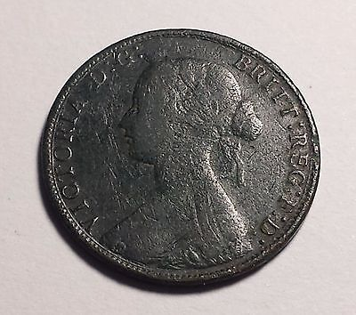 1861 Half Penny Great Britain - Queen Victoria Bun