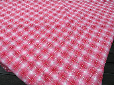 "Unused    Check Duvet Cover Linen Plaid Fabric Single Bed Twin 47  ""by 69"""